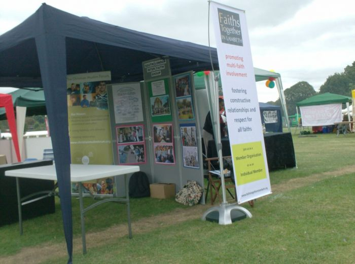 The Inter Faith Stall at Lambeth Country Show (after)
